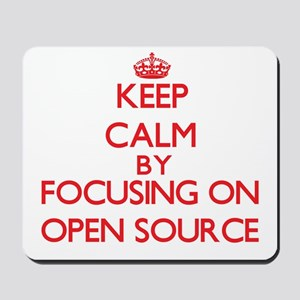 Keep calm by focusing on on Open Source Mousepad