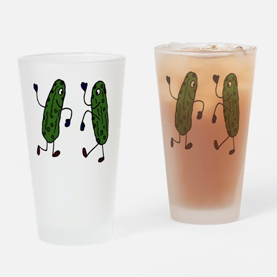 Funny Pickles Dancing Drinking Glass