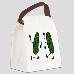 Funny Pickles Dancing Canvas Lunch Bag