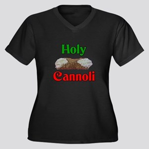 Holy Cannoli Women's Plus Size V-Neck Dark T-Shirt