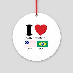 USA-BRAZIL Ornament (Round)