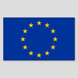European Flag Rectangle Sticker