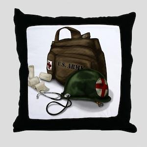 Army Medic Throw Pillow