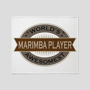 Awesome Marimba Player Throw Blanket