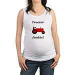 Red Tractor Junkie Maternity Tank Top