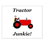 Red Tractor Junkie Small Poster