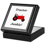 Red Tractor Junkie Keepsake Box
