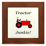 Red Tractor Junkie Framed Tile