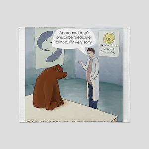 Bearly Eating Throw Blanket