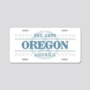 Oregon Aluminum License Plate