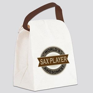 Awesome Sax Player Canvas Lunch Bag