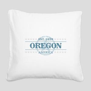 Oregon Square Canvas Pillow