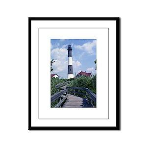 Fire Island Lighthouse Framed Panel Print
