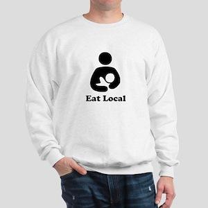 EAT LOCAL BLACK BREASTFEEDING SHIRT Sweatshirt