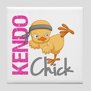 Kendo Chick 2 Tile Coaster