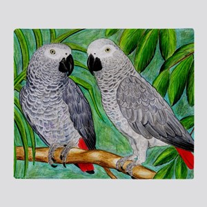 African Greys Throw Blanket