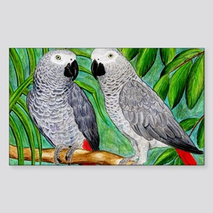 African Greys Sticker (Rectangle)
