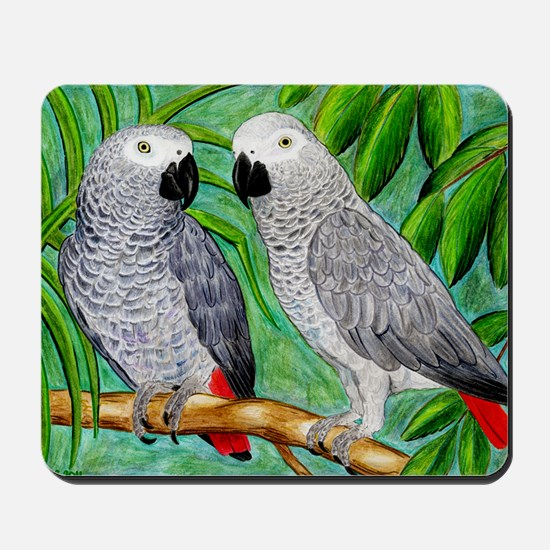 African Greys Mousepad