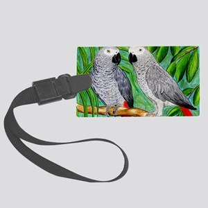 African Greys Large Luggage Tag