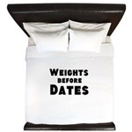 Weights Before Dates King Duvet