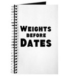 Weights Before Dates Journal