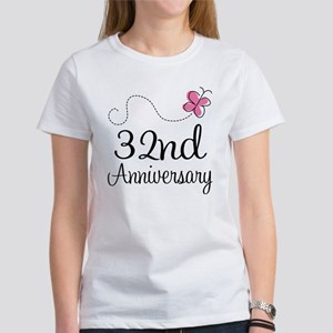 32nd Anniversary Butterfly Women's T-Shirt