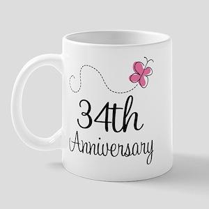 34th Anniversary Butterfly Mug
