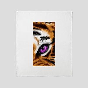 Tiger Purple Eye Throw Blanket