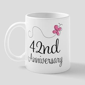 42nd Anniversary Butterfly Mug