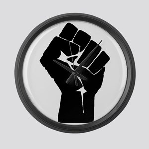 Solidarity Salute Large Wall Clock