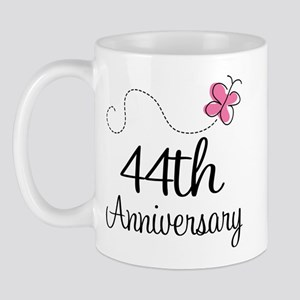 44th Anniversary Butterfly Mug