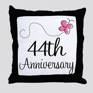 44th Anniversary Butterfly Throw Pillow