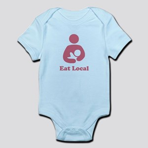 EAT LOCAL PINK BREASTFEEDING SHIRT Body Suit