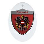 Austria Metallic Shield Ornament (Oval)