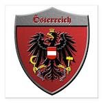 Austria Metallic Shield Square Car Magnet 3