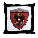 Austria Metallic Shield Throw Pillow