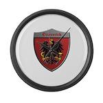 Austria Metallic Shield Large Wall Clock