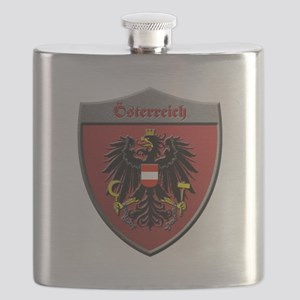 Austria Metallic Shield Flask