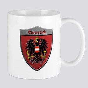 Austria Metallic Shield Mugs