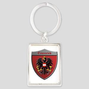 Austria Metallic Shield Keychains