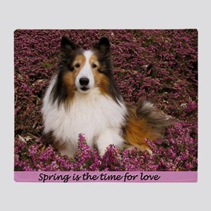 Spring is the time for love Throw Blanket