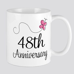 48th Anniversary Butterfly Mug