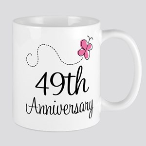 49th Anniversary Butterfly Mug