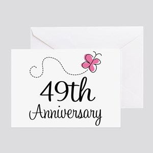 49th anniversary greeting cards cafepress 49th anniversary butterfly greeting card m4hsunfo