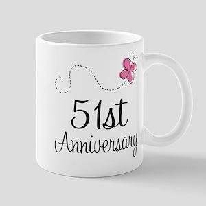 51st Anniversary Butterfly Mug