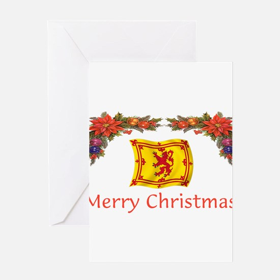 Scottish Merry Christmas 2 Greeting Cards