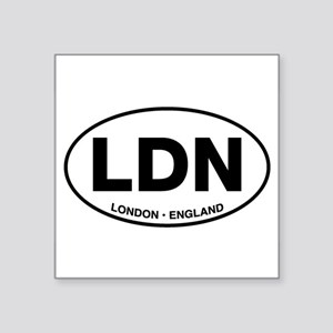London Oval Sticker