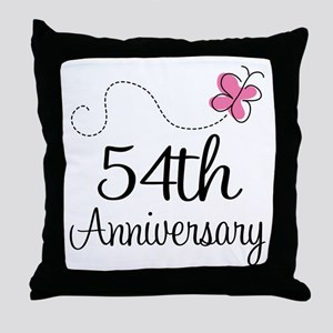 54th Anniversary Butterfly Throw Pillow