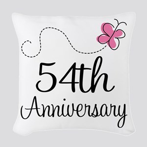 54th Anniversary Butterfly Woven Throw Pillow