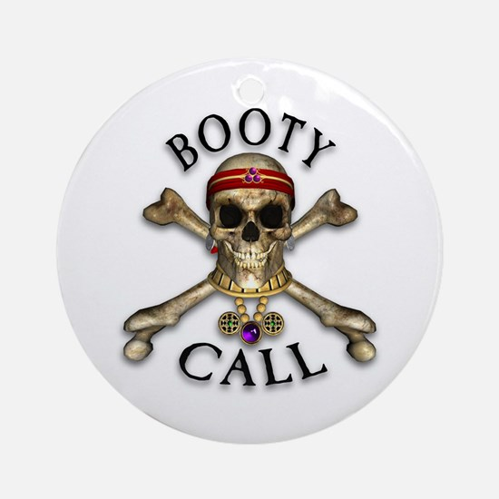 Pirate Booty Call Ornament (Round)